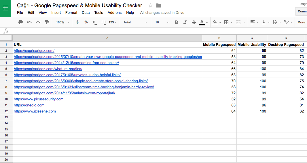 Create Your Own Google Pagespeed & Mobile Usability Tracking Google