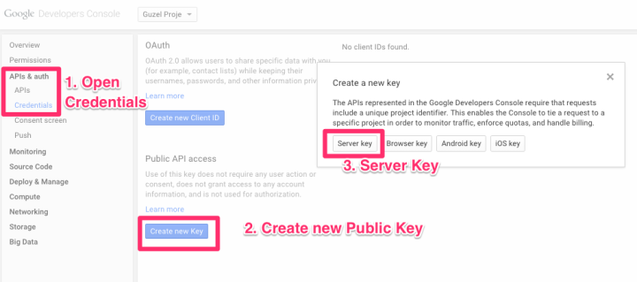 Creating a Public Key for API Acess